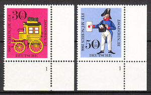 BRD 1966 Mi. Nr. 516-517 Postfrisch Eckrand 4 Formnummer 1 TOP!!! (9618)