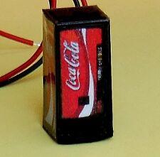 HO Scale LIGHTED Coke Vending Machine 1/87 Illuminated