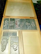 Set 9 Kingsley Flat Hot Foil Stamping  Special occasion Stamp Plates W/Box