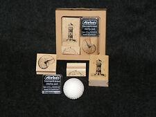 Stempelset - Leuchtturm + Muschel -- 3 Stempel + 1 Stempelkissen - Stempel Set
