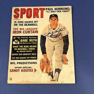 Sandy Koufax Hand Signed Autographed September 1963 Sport Magazine Dodgers