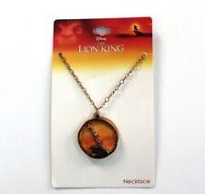 Disney The Lion King Pride Rock Scene Necklace Gold Tone