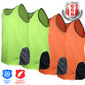 HI VIS SINGLET MENS TOP SAFETY PANEL WITH PIPING Cool Dry FLUORO Work Wear