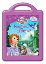 DISNEY SOFIA THE FIRST READY TO BE A PRINCESS Books and Magnetic Playset in Case