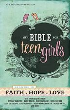 NIV Bible for Teen Girls : Growing in Faith, Hope, and Love by Zondervan...