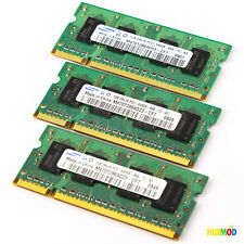 Samsung 3GB (3x1GB) 2Rx16 PC2-6400S Unbuffered CL6 200-Pin SODIMM Laptop Memory