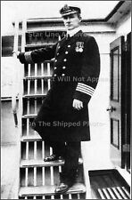 Photo Captain Arthur  Rostron RMS Carpathia Wearing Medal For Heroism, Late 1912