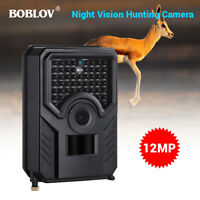 PR200 Boblov 12MP 1080P Hunting Scouting Trail Camera 110°PIR Angle Night Vision
