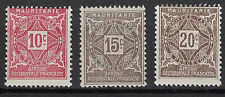 MAURITANIA:1914 SC#J10-J12 MLH POSTAGE DUE STAMPS m201