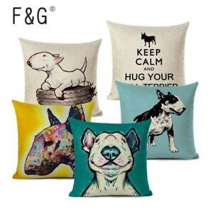 Bull Terrier Gifts - Cushion Cover Cute EBT Cushion Case 45x45cm