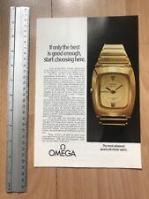 Omega Constellation (2p) 1971 Advertisement Pub Ad Werbung