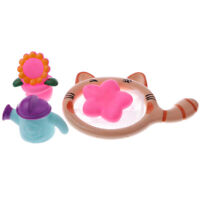 4pcs Cartoon Baby Preschool Bathroom Tub Flower Kettle Set Bath Toys Gift