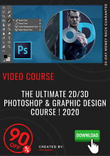 The Ultimate 2D/3D Photoshop & Graphic Design Course ! 2020 video training