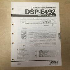 Original Yamaha Service Manual for the DSP-E492 Sound Field Processing Amplifier