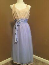 "Vintage Chiffon Nightgown Radcliffe ""dressmaker designed"" 1950's nylon"
