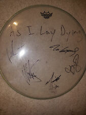 As I Lay Dying SIGNED CLEAR REMO DRUMHEAD Tim Lambesis