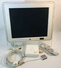 Apple 17 In Studio Display Monitor LCD M7649 Vintage 2003 w/ DVI to ADC Adaptor
