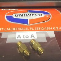 Uniweld WELDING HOSE CONNECTORS, A TO A,  HCC40/41, A=3/8""