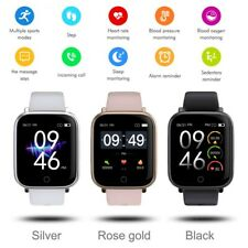 Bluetooth Smart Watch Heart Rate Blood Pressure Monitor For iPhone iOS Android