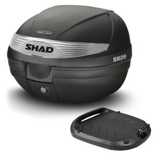 SHAD SH29 Coffre 30 Lt Noir Mat+Plaque Universel Moto / Maxi Scooters