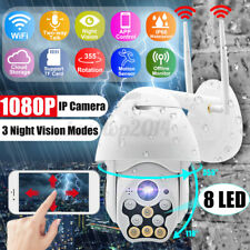 Outdoor 8 LED Full-color Night Vision HD 1080P Camera Wireless WiFi IP Camera