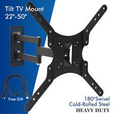 """22""""-50"""" Full Motion Swivel TV Wall Mount Bracket LCD LED Plasma Flat Tilt Screen"""