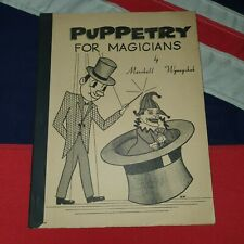 Vintage Magic Tricks Stage Illusions Instructions Books - Puppetry For Magicians
