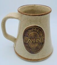 RARE JAMES PAINE BREWERY 1½ PINT STONEWARE TANKARD BY WEST PERRY STUDIO POTTERY