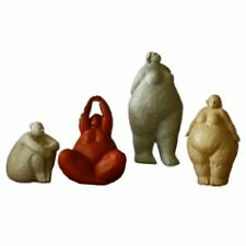 Fat Lady Figurines Resin Abstract Nordic Vintage Woman Ornament Home Decorations