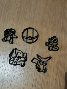 Cookie cutter for Pokémon Shapes