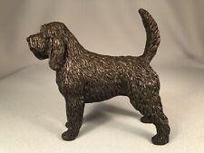 Tony Acevedo Cold Cast Bronze Otterhound Dog Figurine, Show Pose