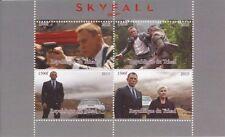 2015 James Bond Movie Skyfall - 4 Stamp Sheet - 3B-430