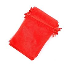 50 pcs Organza Jewelry  Bag Display Drawstring Wedding Party Festival Gift Red