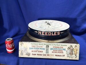 Antique Boye Needle Rotary Bobbins Shuttles Top spool Display,Drawer & Contents