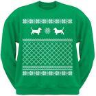 Basset Hound Green Adult Ugly Christmas Sweater Crew Neck Sweatshirt