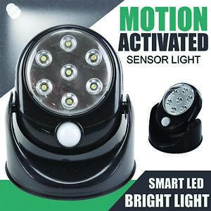 7 LED Motion Sensor Light PIR Wireless Night Light Battery Indoor Outdoor Garden