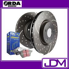 NSSAN PATROL GQ Y60 R/Disc - RDA Rear SLOTTED Brake Discs & EBC ULTIMAX PADS