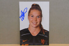 1x Photo card SIGNED : Lize Kop / Oranje Leeuwinnen - AJAX / 2019 (03587)