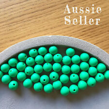 10 silicone KELLY GREEN 12mm beads round BPA free baby teeth safe nursing chew