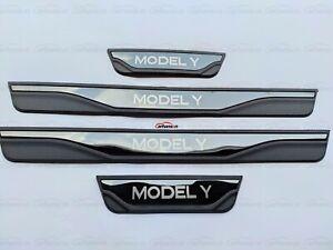 für Tesla Model Y Zubehör Teile Beschützer Schutz Einstiegsleisten Türrahmen 21