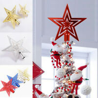 Christmas Star Tree Topper Xmas Party Home Ornaments Festival Decoration Gift