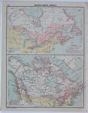 HISTORICAL MAP BRITISH NORTH AMERICA BRITISH TERRITORY 1791 ~ 1841 HUDSON BAY