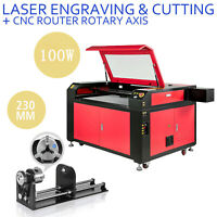 100W Laser Engraver Machine & Rotary Axis Engraving Cutting Machine 900*600mm