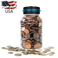 Large Digital LCD Money Coin Counter Saving Jar Money Box Piggy Bank Coins Gift