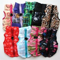 Pet Dog Vest Coat Jacket Puppy Cats Clothes Winter Warm Buckle Costume Apparel