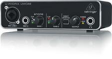 Behringer U-PHORIA UMC22 Audiophile 2 X 2 Interfaz De Audio Usb Con Preamplificador Midas