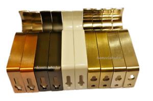 28mm Heavy Duty Metal Curtain Pole Rod Wall Bracket Holder Screw Drapery 5 color