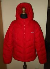 Womens Hollister Down Hoodie Jacket - Size Large