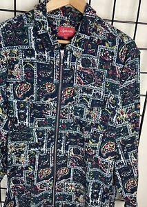 Mens Authentic Supreme Paisley Full Zip Jacket Size XL
