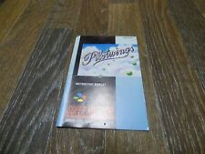 PILOTWINGS INSTRUCTION BOOK ONLY SNES SUPER NINTENDO